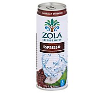 Zola Coconut Water Natural With Espresso - 17.5 Fl. Oz.