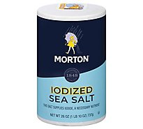 Morton Sea Salt Iodized All Purpose - 26 Oz