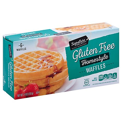 Signature SELECT Waffles Gluten Free Homestyle 6 Count - 7.4 Oz