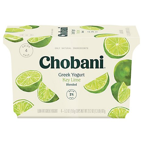 Chobani Yogurt Greek Blended Low-Fat Key Lime - 4-5.3 Oz