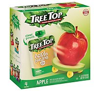 Tree Top Apple Sauce Apple No Sugar Added Pouches - 4-3.2 Oz