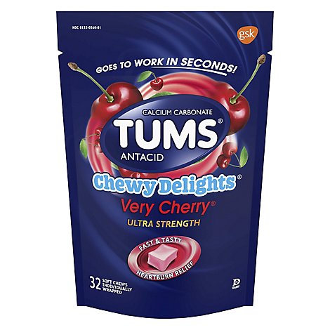 Tums Chewy Delights Very Cherry - 32 Count