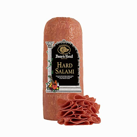 Boars Head Salami Hard Half Fresh Sliced - 1.00 LB