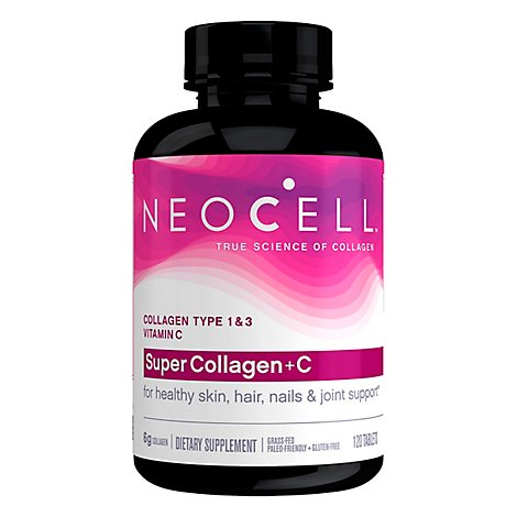 Neocell Collagen + C Super Type 1 & 3 6 000 mg Tablets - 120 Count
