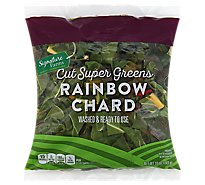 Signature Farms Rainbow Chard Cut Super Greens - 10 Oz
