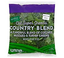 Signature Farms Country Blend Cut Super Greens - 10 Oz