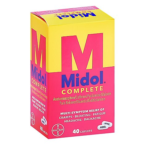 Midol Complete Pain Reliever Maximum Strength Caplets - 40 Count