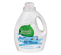 Seventh Generation Laundry Detergent Liquid Free & Clear - 100 Fl. Oz.