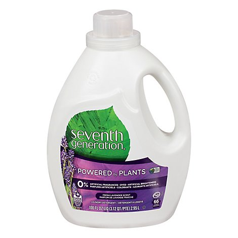 Seventh Generation Laundry Detergent Liquid Fresh Lavander Scent - 100 Fl. Oz.