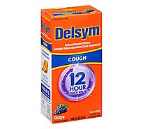 Delsym Cough Suppressant Cough Relief 12 Hour Grape Flavored - 5 Fl. Oz.