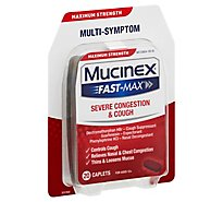 Mucinex Fast-Max Severe Congestion and Cold Medicine Maximum Strength Caplets - 20 Count
