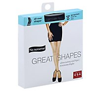 No nonsense Pantyhose All-Over Shaper Great Shapes Sheer Toe Midnight Black Size D - Each