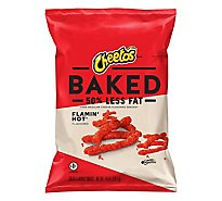 Cheetos Snacks Cheese Flavored Baked Flamin Hot - 7.625 Oz