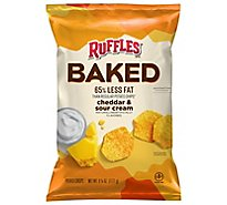 Ruffles Potato Crisps Oven Baked Cheddar & Sour Cream Flavored - 6.25 Oz
