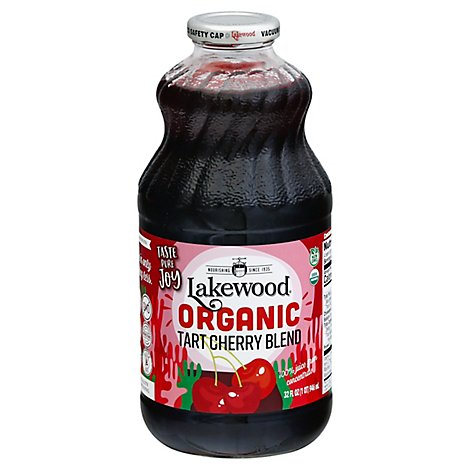 Lakewood Organic Juice Pure Fruit GMO Free No Sugar Tart Cherry - 32 Fl. Oz.