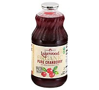 Lakewood Organic Pressed GMO Free Juice Pure Cranberry - 32 Fl. Oz.