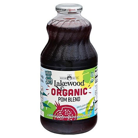 Lakewood Organic 100% Juice Pomegranate - 32 Fl. Oz.