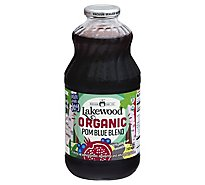 Lakewood Organic 100% Juice Blend Pomegranate With Blueberry - 32 Fl. Oz.