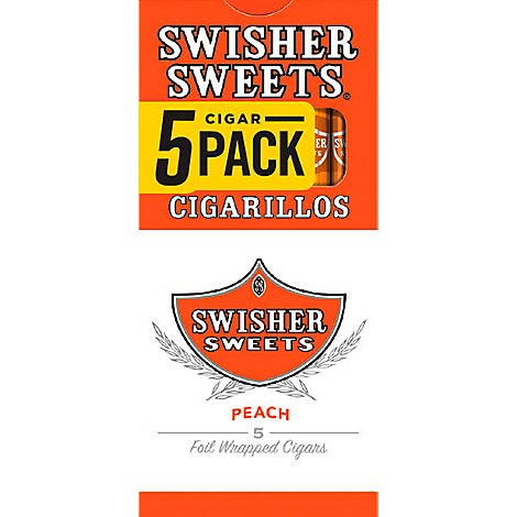 Swisher Sweets Cigarillos Peach - 5 Package