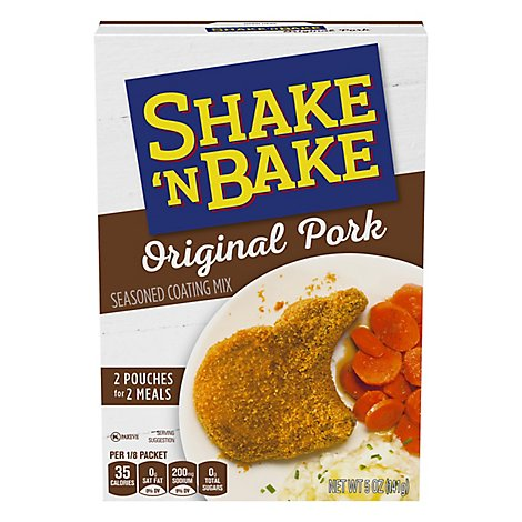 Shake N Bake Seasoned Coating Mix Original Pork - 5 Oz
