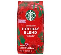 Starbucks Coffee Ground Medium Roast Holiday Blend Bag - 10 Oz