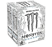 Monster Energy Drink Zero Ultra - 4-16 Fl. Oz.