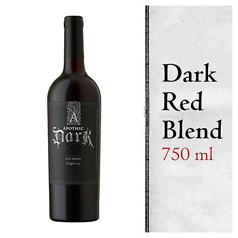 Apothic Dark Wine Red Blend California - 750 Ml
