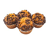 Bakery Muffin Pumpkin Chocolate Chip 4 Count - Each