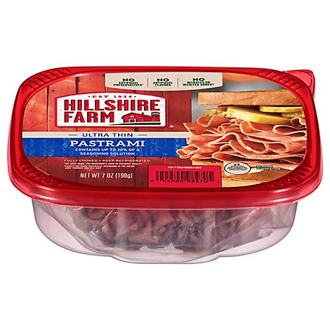 Hillshire Farm Ultra Thin Sliced Lunchmeat Pastrami 7 Oz