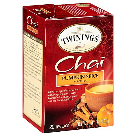 Twinings of London Black Tea Chai Pumpkin Spice - 20 Count