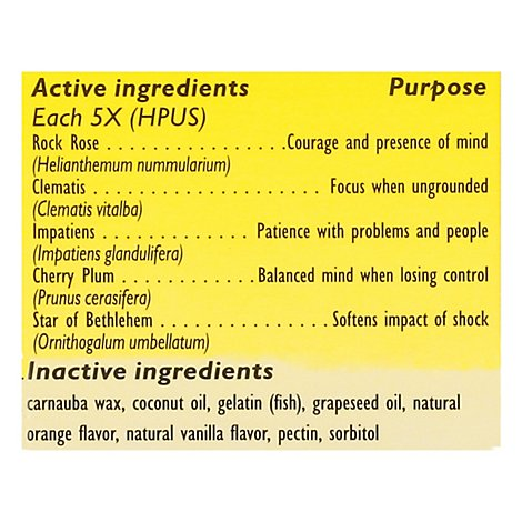 Bach Rescue Remedy Pearls Natural Stress Relief Dissolvable Capsulas - 28 Count