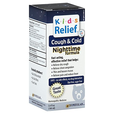 Homeolab Kids Relief Nighttime Formula Cough & Cold - 3.4 Fl. Oz.