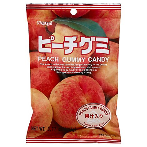 Kasugai Gummy Candy Peach - 3.77 Oz