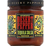 Desert Pepper Salsa Tequila Medium Burn Jar - 16 Oz