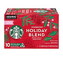 Starbucks Coffee K-Cup Pods Medium Roast Holiday Blend Box - 10-0.40 Oz