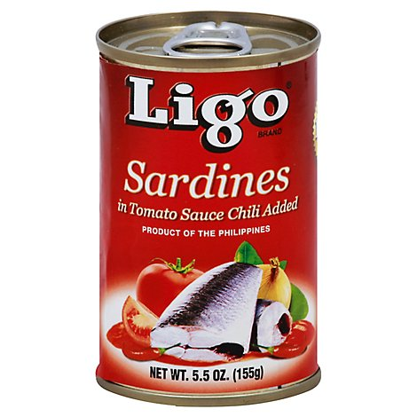 Ligo Sardines Hot Can - 5.5 Oz