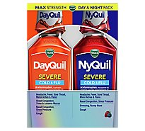 Vicks DayQuil NyQuil Combo Severe Cold & Flu Relief Syrup - 2-12 Fl. Oz.