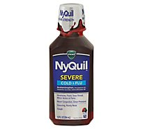 Vicks NyQuil Severe Cold & Flu Medicine Liquid Berry - 12 Fl. Oz.