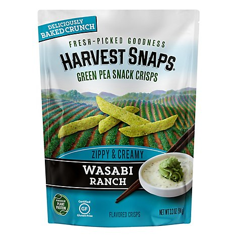 Harvest Snaps Wasabi Ranch Green Pea Snack Crisps - 3.3 Oz.