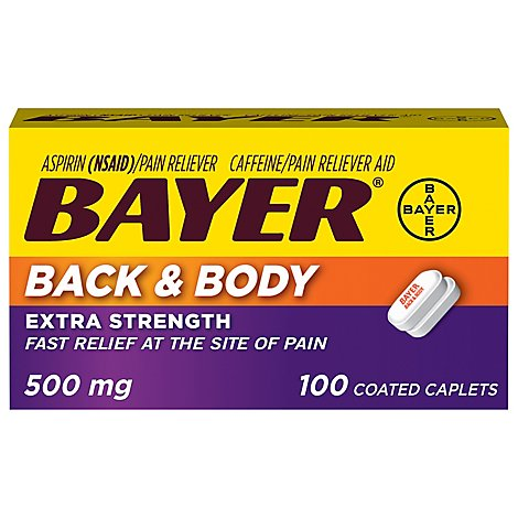 Bayer Back & Body Extra Strength Pain Relief Caplets - 100 Count