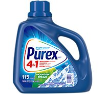 Purex Laundry Detergent Liquid Mountain Breeze 115 Loads - 150 Fl. Oz.
