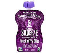 Mamma Chia Squeeze Organic Vitality Snack Blackberry Bliss - 3.5 Oz