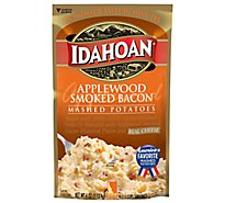 Idahoan Potatoes Mashed Applewood Smoked Bacon Pouch - 4 Oz