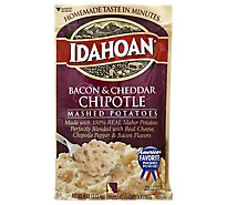 Idahoan Potatoes Mashed Bacon & Cheddar Chipotle Pouch - 4 Oz