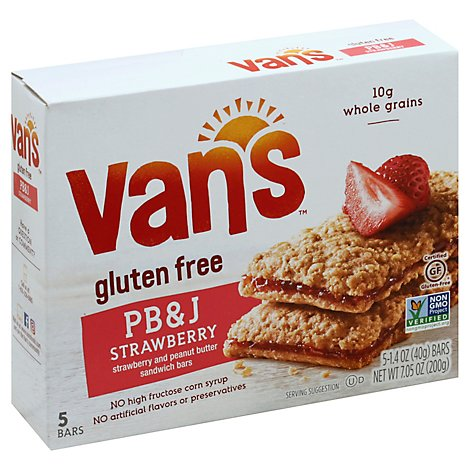 Vans Sandwich Bars PB&J Strawberry And Peanut Butter - 5-1.4 Oz