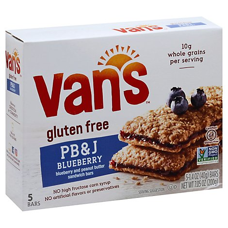 Vans Sandwich Bars PB&J Blueberry And Peanut Butter - 5-1.4 Oz