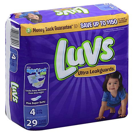 Luvs Ultra Leakguards Diapers Size 4 - 29 Count