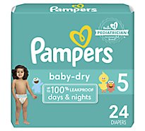 Pampers Baby Dry Diapers Size 5 (27+ lb) Sesame Street - 24 Count