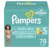 Pampers Baby Dry Diapers Super Pack Size 5 - 78 Count