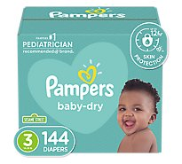 Pampers Baby Dry Diapers Size 3 (16-28 lb) Sesame Street - 144 Count